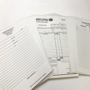 Printex Printing and Graphics carbonless NCR forms