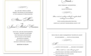 Printex Printing and Graphics wedding invitations