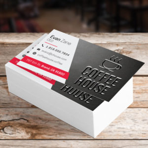 Printex Printing and Graphics business cards raised printing