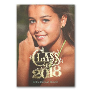 Show your friends and family how amazing your child is with this graduation invitation.