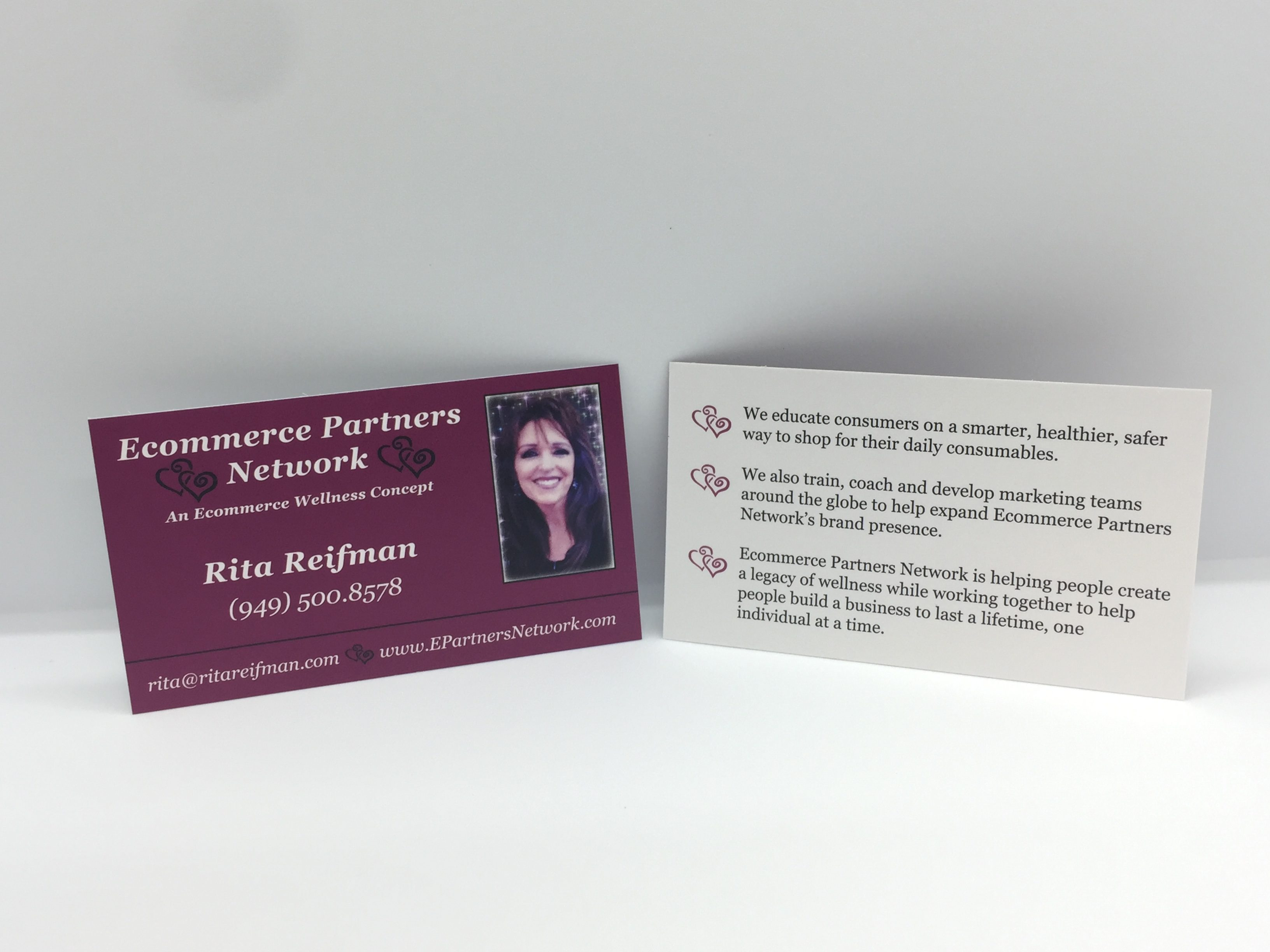 Rita Reifman Business Cards Printed at Printex Printing & Graphics