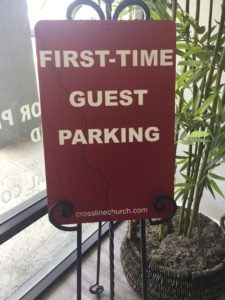 Custom printed sign for church parking printed locally