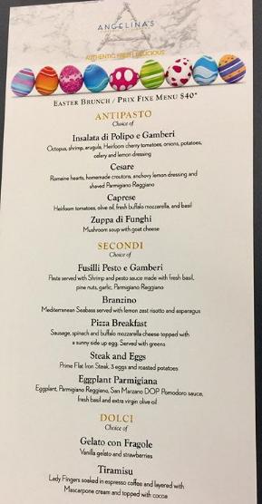 Custom printed menus
