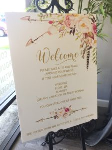 Foam Core Wedding Guest Welcome Sign