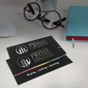 Raised foil business cards