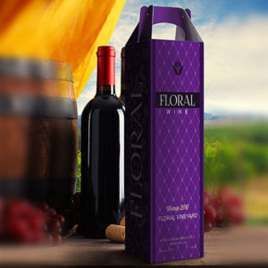 Custom branded and printed wine box