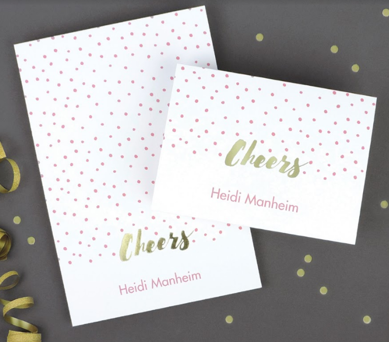 Custom printed note cards and stationery