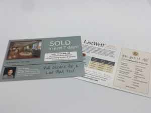 Real estate post card printing services in Orange County.