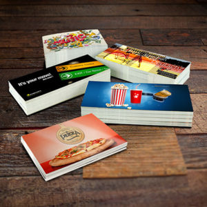 Oversized post cards for direct mail marketing.