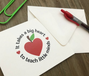 personalized note cards for teachers.
