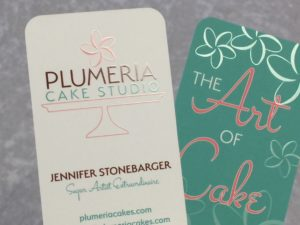 Custom printed with embossing business cards