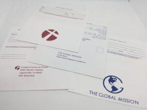 Custom printed church tithing remittance envelopes