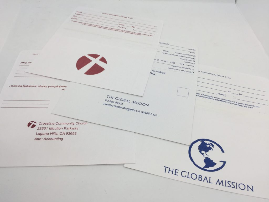 custom printing tithing envelopes